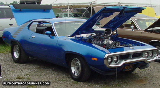 1972 Plymouth Road Runner. Photo from 2001 Chrysler Classic – Columbus, Ohio.