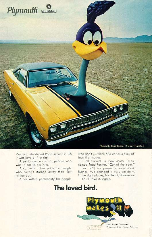 1970 Plymouth Road Runner Factory Advertisement.