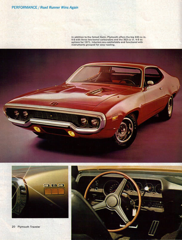 1971 Plymouth Road Runner Factory Advertisement.