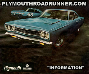 1968 Plymouth Roadrunner, photo from factory brochure.